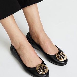 Tory Burch Reva Leather Ballet Flats 7.5
